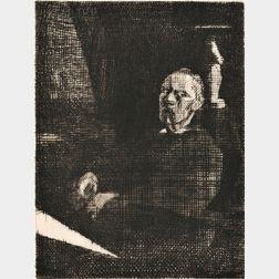Jacques Villon (French, 1875-1963)      Two Portraits: Tête de fillette