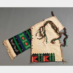 Four Southwest Embroidered Textile Items