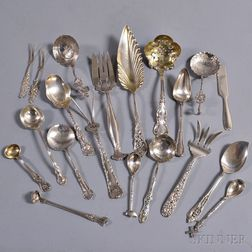 Group of Mostly Sterling Silver Serving pieces