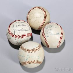 Four Signed Baseballs