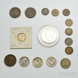 Small Group of Mostly U.S. Coins