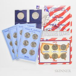 Extensive Group of Eisenhower, Susan B. Anthony, Sacagawea, and Presidential Dollars.