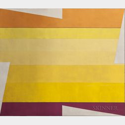 Larry Zox (American, 1937-2006)      Rotation in Yellows