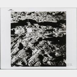 Apollo 14, EVA, Two Photographs.