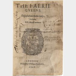 Spenser, Edmund (1552?-1599) The Faerie Queene. Disposed into Twelve Bookes, Fashioning XII. Morall Vertues.