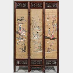 Three-panel Kesi   Screen