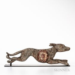 Painted Cast Iron Greyhound Shooting Gallery Target