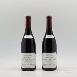 Meo Camuzet Clos de Vougeot 2012, 2 bottles