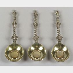 Six Large Victorian Silver Apostle Spoons