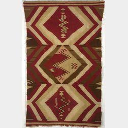 Classic Period Man's Serape, Navaho Slave Blanket