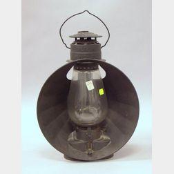 Black Painted Dietz 30 Tin Railroad Lantern.