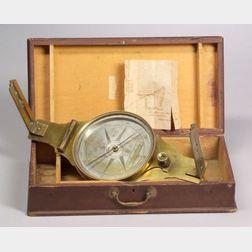 Brass Surveyor's Vernier Compass by Wyllys Avery