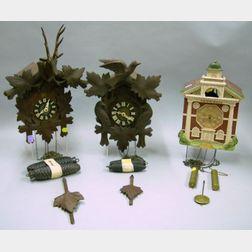 Lot of Three Cuckoo Clocks