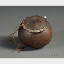 Polynesian Coconut Shell Container