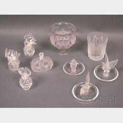 Nine Pieces of Lalique Glass