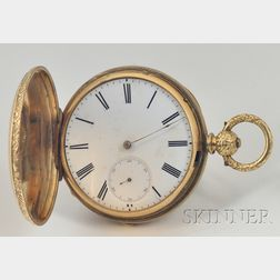 9K Gold Watch by Thos. Russell & Son and a Gilt Metal Hunter Case by Als. Elniger