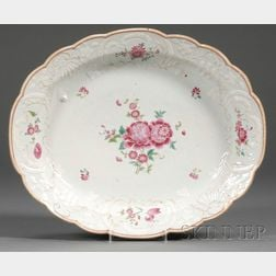 Chinese Export Porcelain Famille Rose Decorated Platter