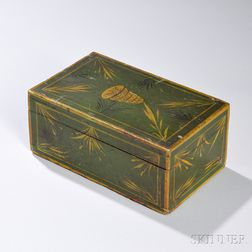 Small Paint-decorated Pine Box