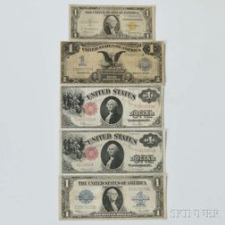 Five Early U.S. $1 Notes