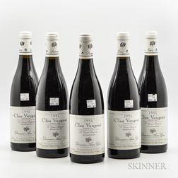 Anne Gros Clos Vougeot Le Grand Monpertuis 1995, 5 bottles