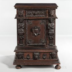 Carved Walnut Prie-dieu