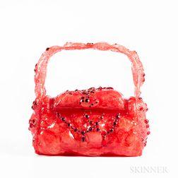 O.E.L. Graves Lucite Mixed-media Handbag
