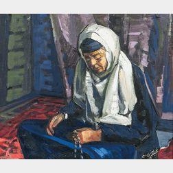 Najib Younis (Iraqi, 1930-2007)      Arab Woman