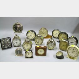 Lot of Sixteen Alarm Clocks