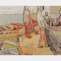 Gabriel Godard (French, b. 1933)      Pecheurs a la trinité