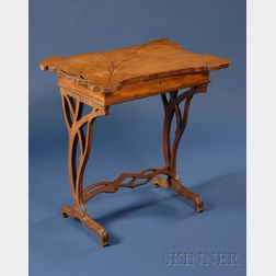 Galle Art Nouveau Fruitwood Marquetry-inlaid Vanity Table