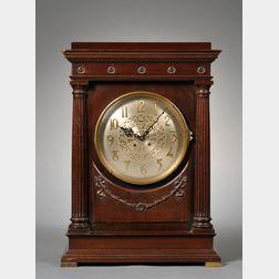 """Mahogany """"Empire"""" Mantel Clock by Chelsea"""