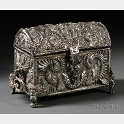 Continental Repousse Silver Casket