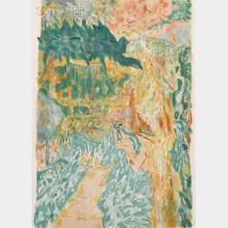 After Pierre Bonnard (French, 1867-1947), Jacques Villon (French, 1875-1963)      Jardin au Cannet