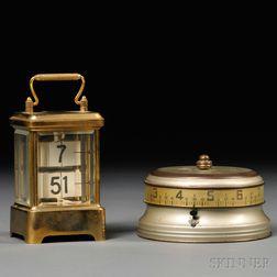 Ansonia Plato Clock and Lux Mystery Rotary Clock