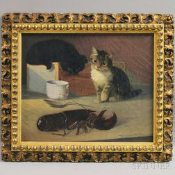 Parker S. Perkins (American, 1862-1942)      Two Cats and a Lobster.