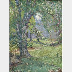 Attributed to Stuart Davis (American, 1892-1964)      Forest Scene.