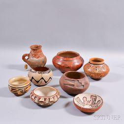 Eight Southwest Pottery Vessels