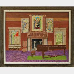 Gideon Cohen (American, 1894-1989)      Music Room, Fenway Court