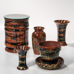 Six Peters & Reed Pottery Items