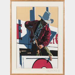 Bill Schenck (American, b. 1947)      Red Rodeo Rider