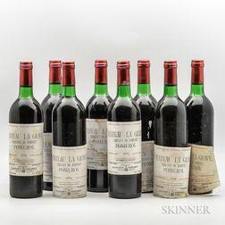 Chateau La Grave 1976, 8 bottles