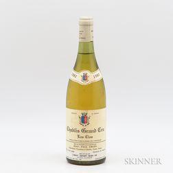 Jean Paul Droin Chablis Le Clos 1982, 1 bottle