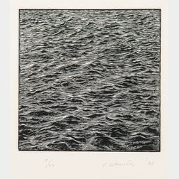 Vija Celmins (Latvian/American, b. 1938)      Untitled (Ocean)