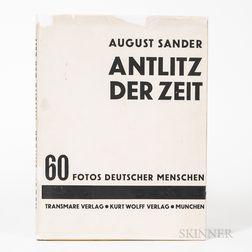 Sander, August (1876-1964) Antlitz der Zeit, 60 Fotos Deutscher Menschen [Face of Our Time].