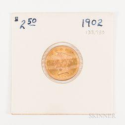 1902 $2.50 Liberty Head Gold Quarter Eagle
