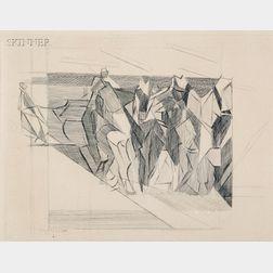 Jacques Villon (French, 1875-1963)      La faucheuse ou moissons