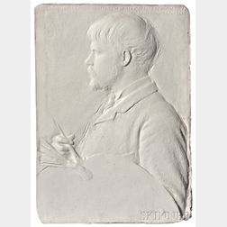 Augustus Saint-Gaudens (American, 1848-1907)      Portrait Plaque of Jules Bastien Lepage
