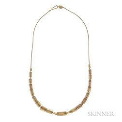 18kt Gold and Rutilated Quartz Necklace, H. Stern