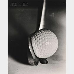 Harold Eugene Edgerton (American, 1903-1990)      Lot of Three Images of Balls: Football Kick, Iron and Golf Ball