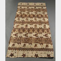 Large Pictorial Tonga Tapa Cloth